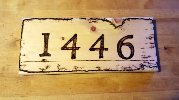 Address Sign Custom Order