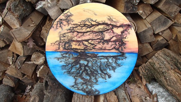 "SOLD 17.5"" Painted Round"