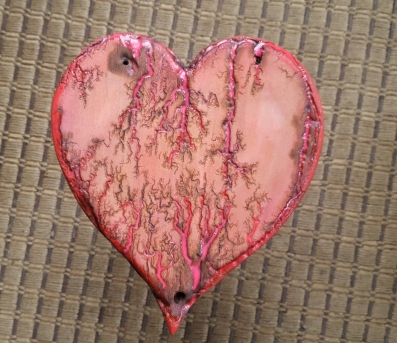 """8"""" heart with glow in the dark paint - $40.00"""